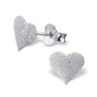 "Stříbrné náušnice s rozdrcenými diamanty ""Princess"". Ag 925/1000"